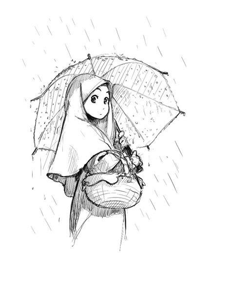 mangagirlwithumbrellaintherain islam pinterest