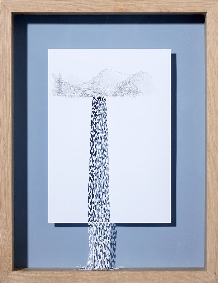 15 water always finds its way 11 25 Striking Framed Papercuts by Peter Callesen
