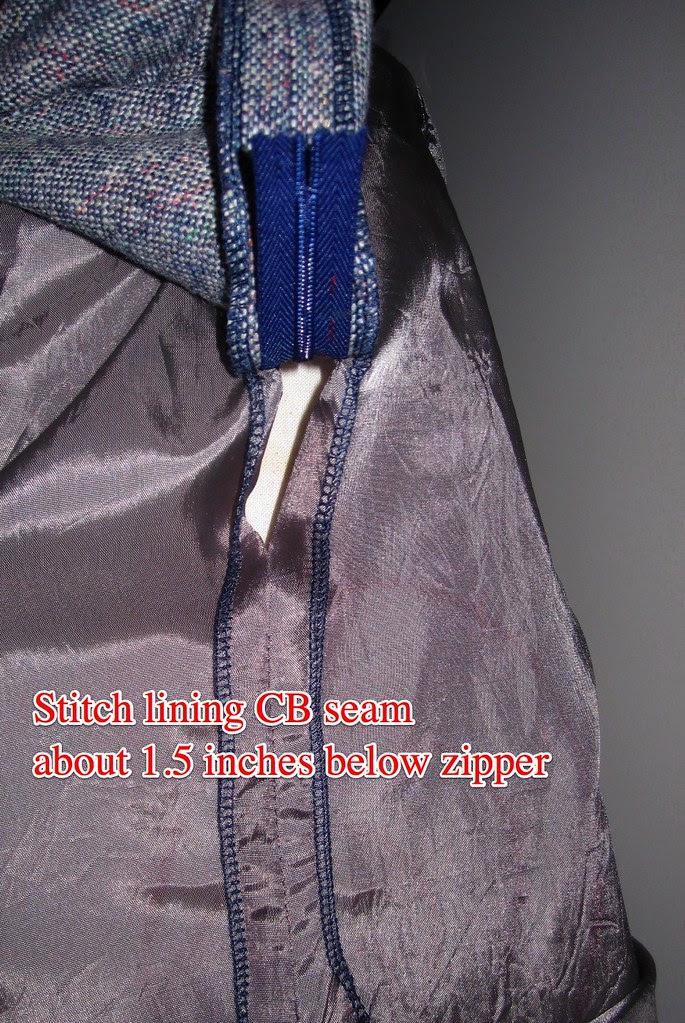 Stitch Lining CB Seam