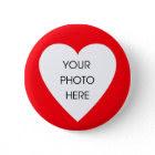 Custom Scribbleprint Heart Border ... - Customized button