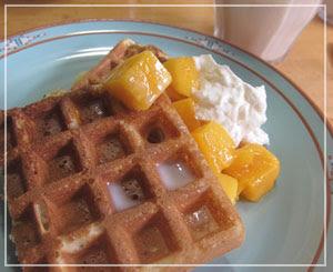 朝食ワッフル♪