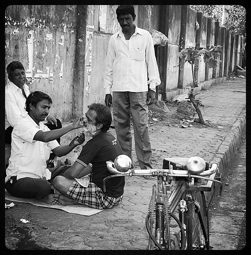 The Street Barbers Of Matunga. by firoze shakir photographerno1