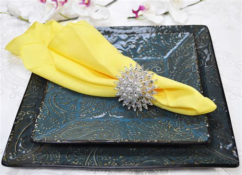 Discount Polyester Canary Yellow Napkin, Cheap Polyester