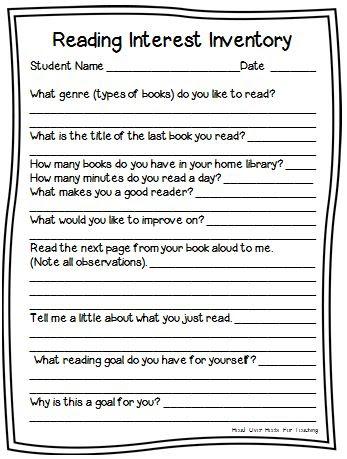 Reading Interest Inventory