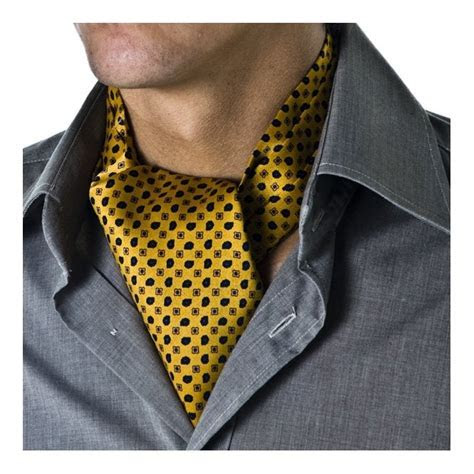 Mustard Yellow Patterned Casual Cravat from Ties Planet UK