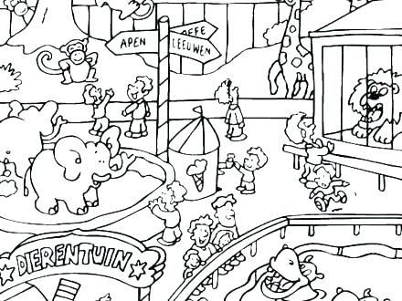 Griffthispage Zoo Coloring Pages For Kids