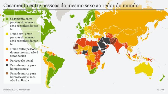 Karte Homo-Ehe brasilianisch