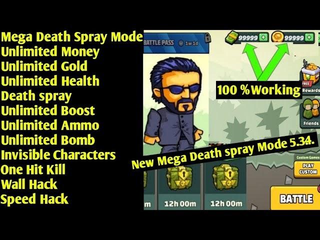 Mini Militia Unlimited Cash + Coins Mod Apk 100% Working Version 5.3.4 Mini Militia Death Spray Mod