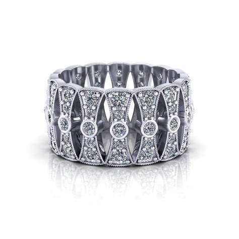 Wide Diamond Wedding Band   Jewelry Designs