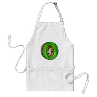 Kiwi Fruit Drawing on Apron