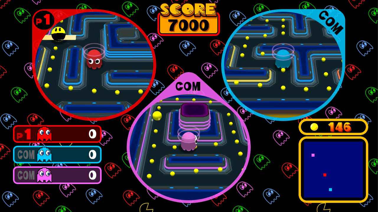 You'll need two Switch consoles to get the most out of Pac-Man Vs. screenshot