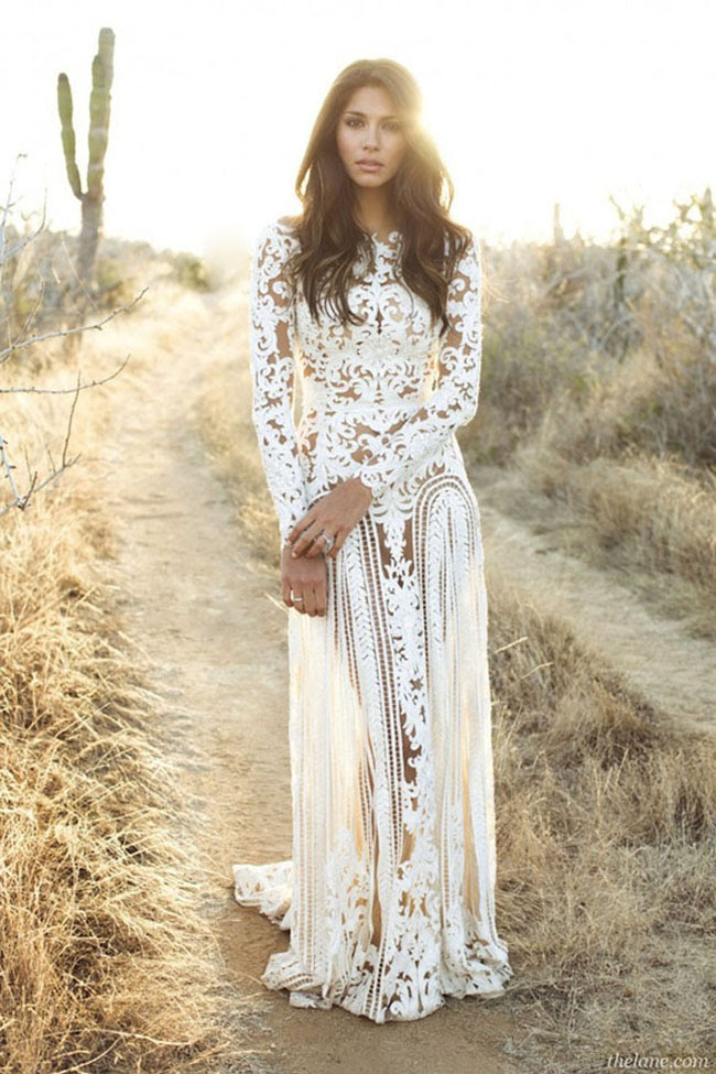 Long sleeve evening dress pinterest