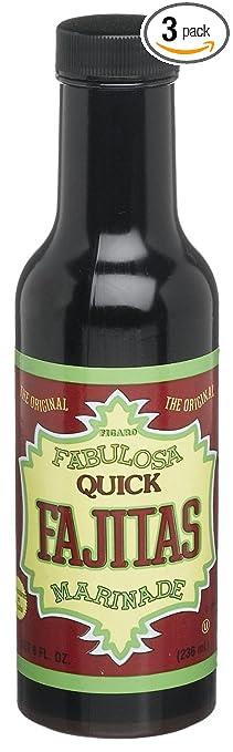Figaro Fabulosa Fajita Marinade, 8-ounce Platic Bottles (Pack of 3)