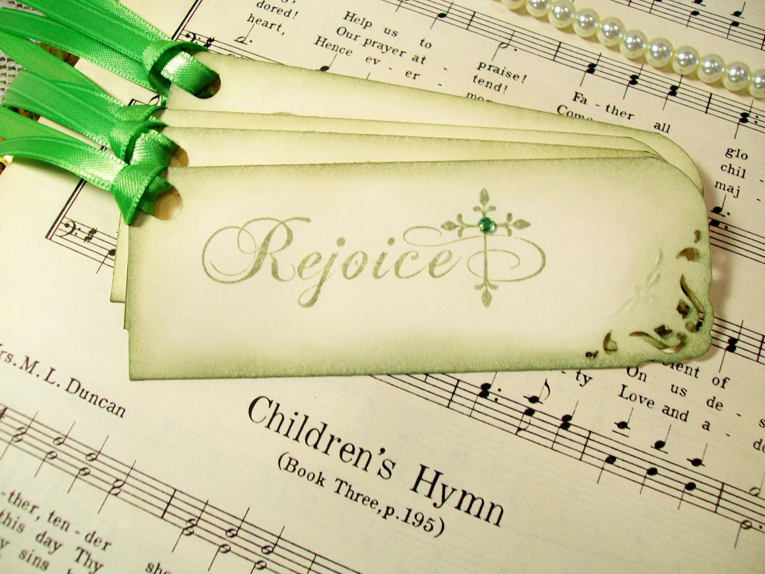 Gift Tags Religious Tags Rejoice & Christian Cross Hang Tags Set of 6