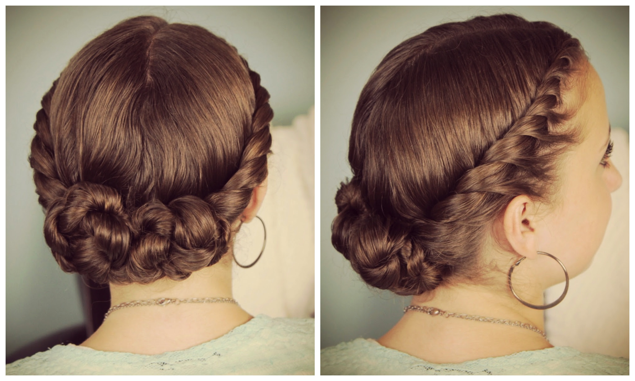 Double Twist Bun Updo Homecoming Hairstyles Cute Girls Hairstyles