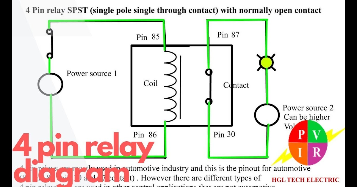 Wiring Diagram Of 12v Relay