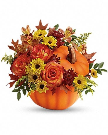 Teleflora S Warm Fall Wishes Bouquet By Lotherington S Flowers Gifts