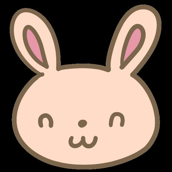ウサギの顔茶のイラスト かわいいフリー素材が無料のイラストレイン