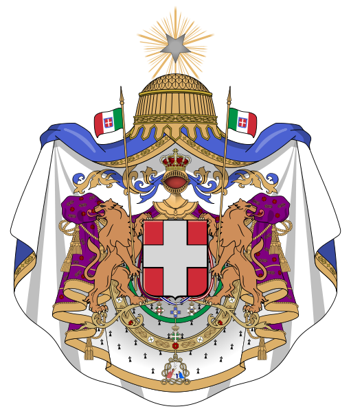 Archivo:Coat of arms of the Kingdom of Italy (1870).svg