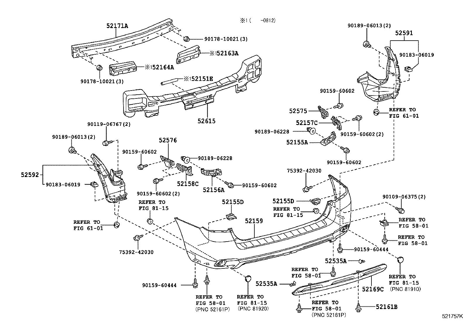Toyota Highlander Body Parts Diagram