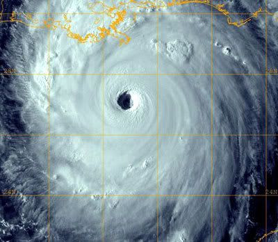 Hurricane Katrina in August, 2005.