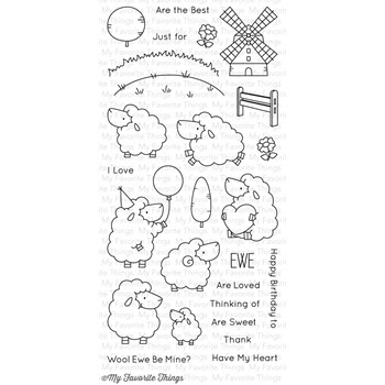 My Favorite Things EWE ARE THE BEST Clear Stamps BB29