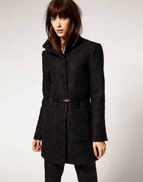 Selected Simple Mohair Mix Coat