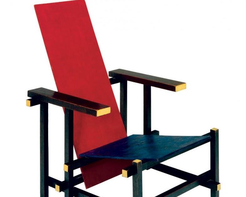 Silla roja y azul gerrit rietveld blog y arquitectura for Silla roja y azul