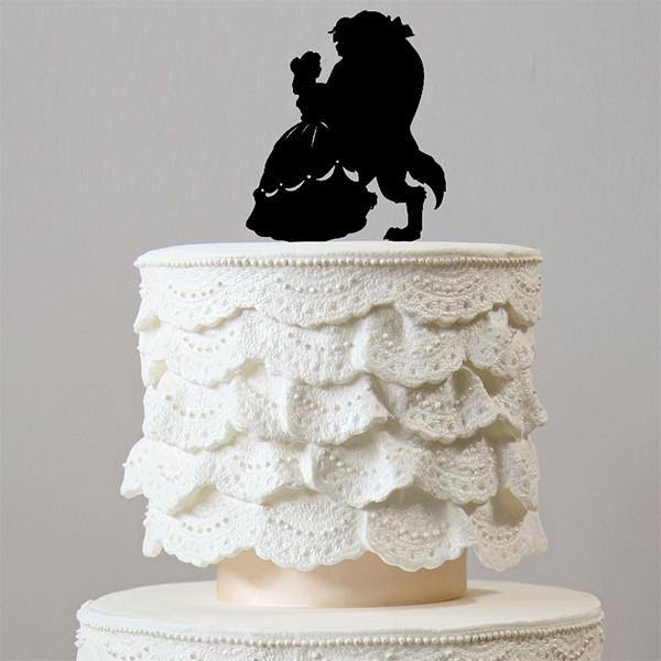 Beauty And The Beast Wedding Cake Topper Engagement Bridal Shower