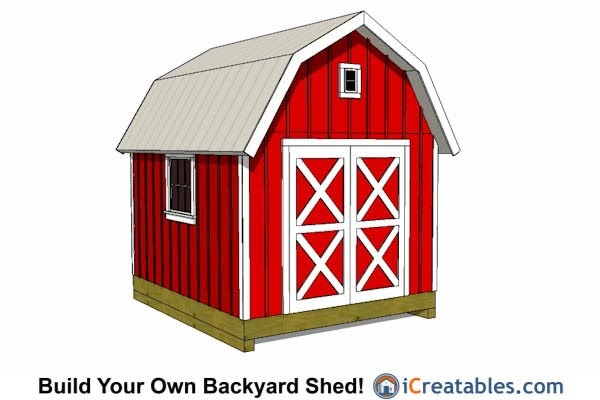 Damis 10 x 12 gambrel shed plans 7x12 for Garden shed 4 u