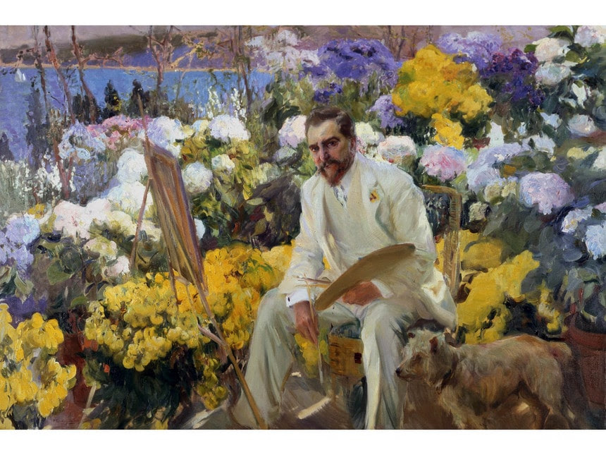 Joaquin-Sorolla-Louis-Comfort-Tiffany-1911-Oil-on-canvas-150-x-225-dot-5-cm-On-loan-from-the