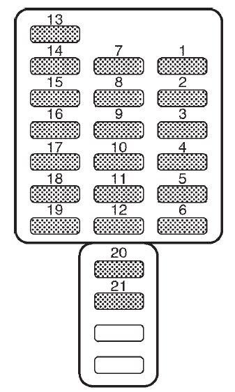 2002 Subaru Forester Fuse Diagram