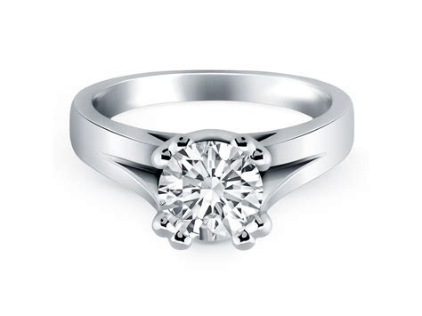 Double Prong Split Shank Cathedral Solitaire Engagement