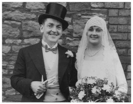 October 1930 Hilda's Wedding.