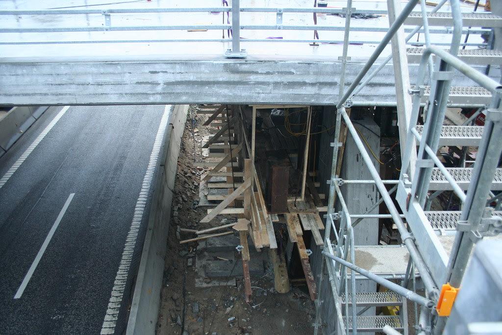 New bridge over motorway