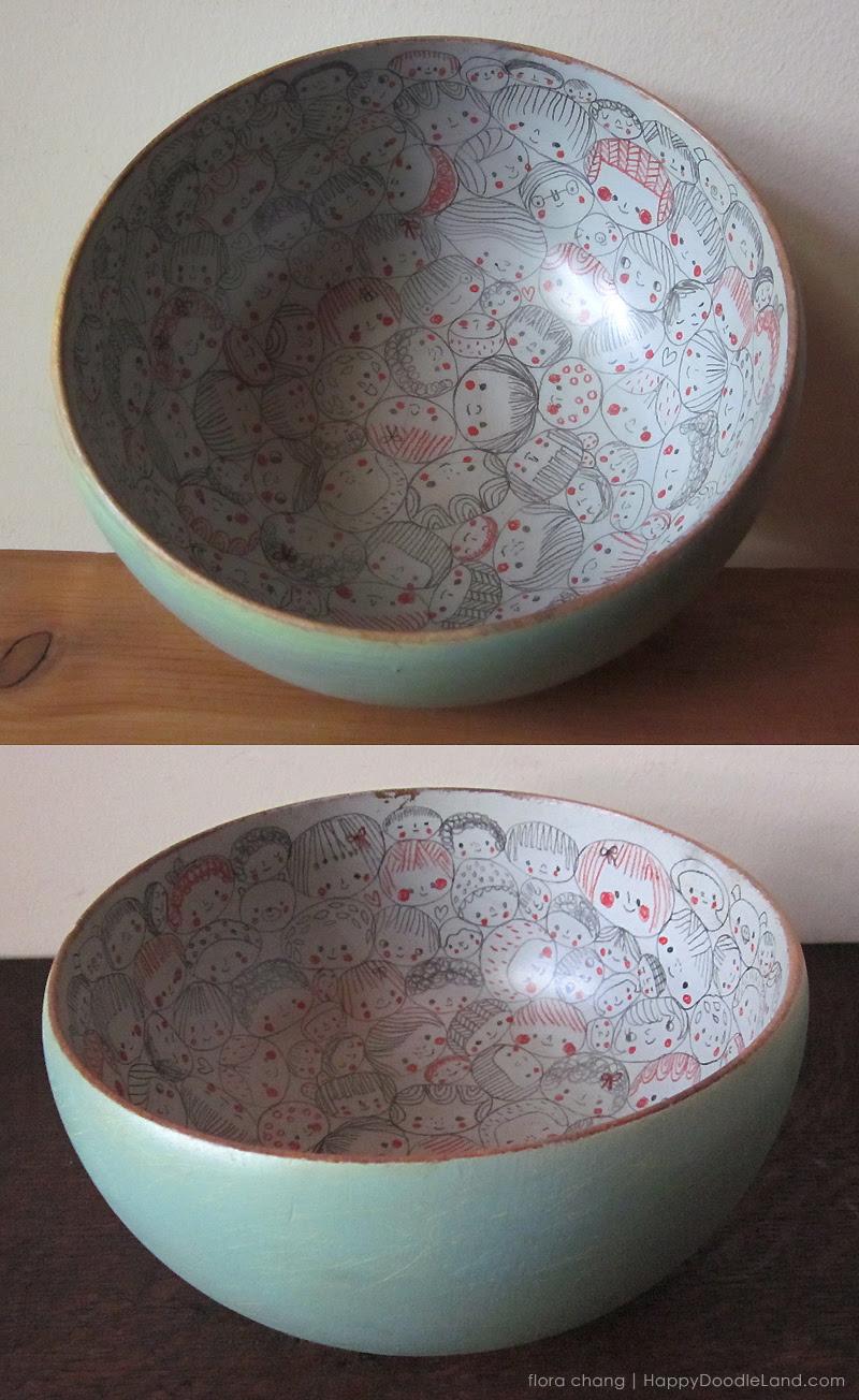 Big Green Wooden Bowl