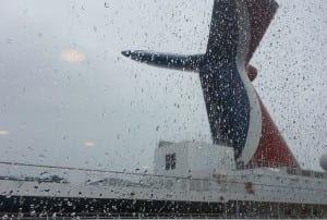 rainy day on cruise