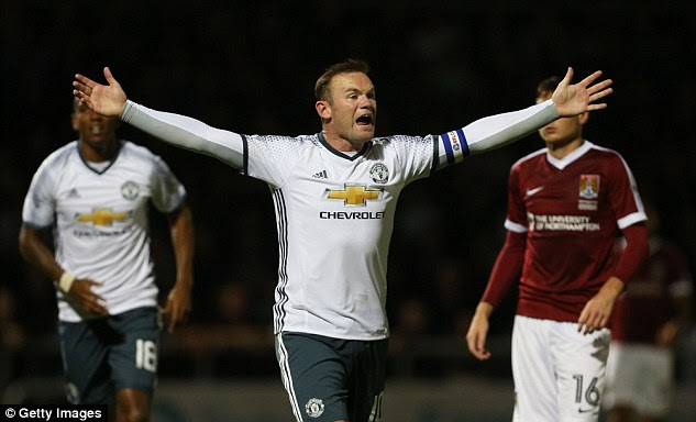 Rooney endured a largely frustrating evening playing a forward role for Mourinho's men