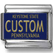 Pennsylvania License Plate Custom Charm