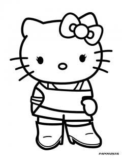 Coloriage Hello Kitty Cuisine