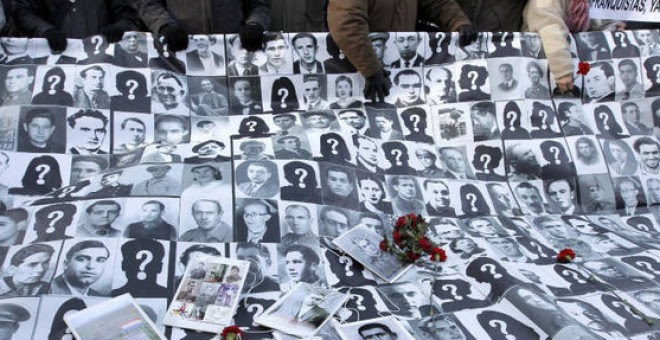 Fotografías de desaparecidos en el franquismo.- EFE