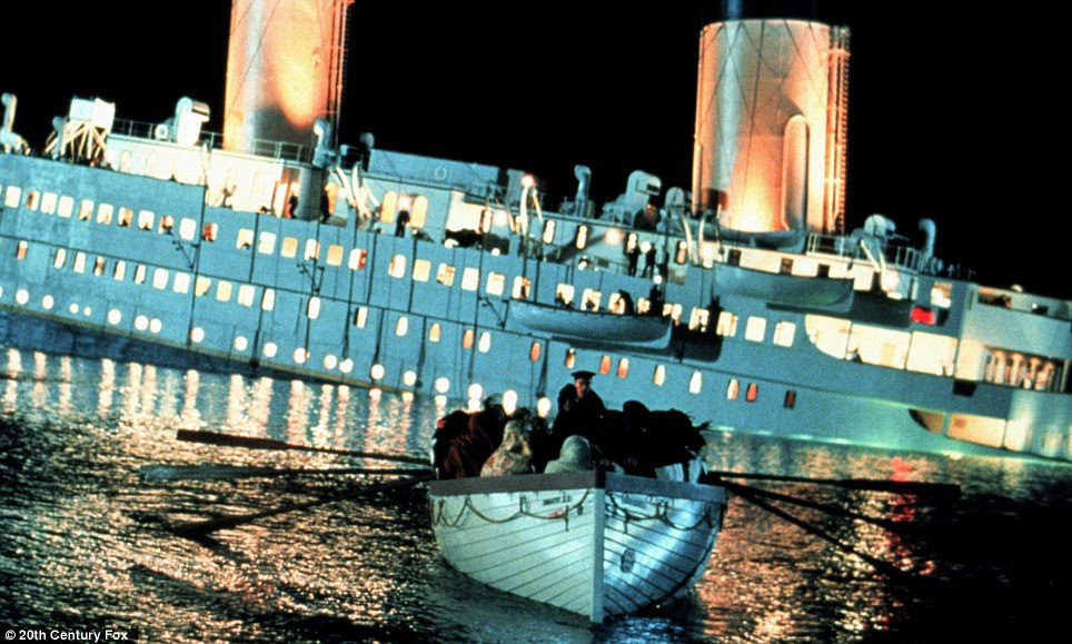 Pictures from when Concordia went down were reminiscent of the 1912 sinking of Titanic, recreated here by the 1997 James Cameron film