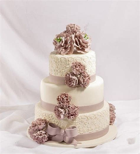 Dusty Rose & Cream Wedding Cake   My wedding   Wedding