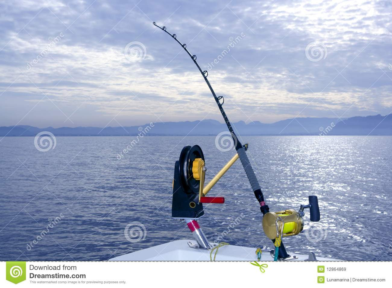 Downrigger Boat Gear Saltwater Trolling Tackle Royalty Free Stock