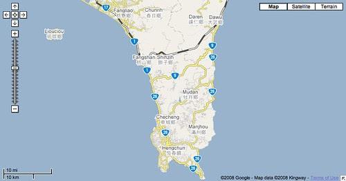 屏東地區地圖