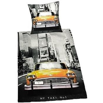 pas cher parure housse de couette new york taxi 100. Black Bedroom Furniture Sets. Home Design Ideas
