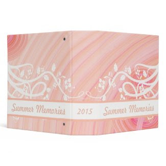 Peach Spirals, Filigree & Flowers Binders