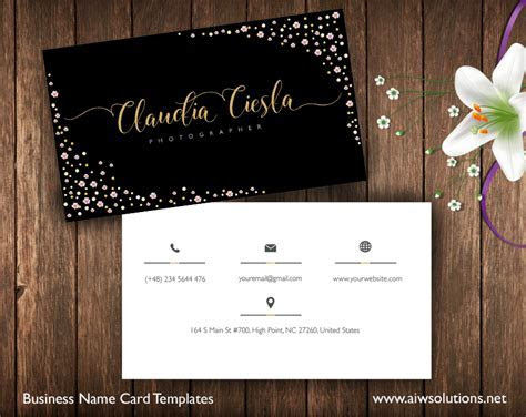 Premade Business Card Template, Name Card Template