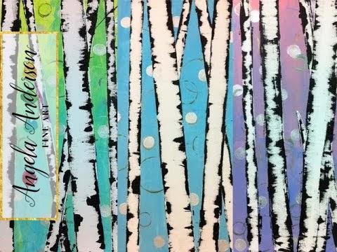 Angela Anderson Art Blog Easy Birch Tree Painting