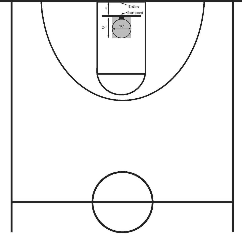 Basketball half court diagram - ClipArt Best - ClipArt Best